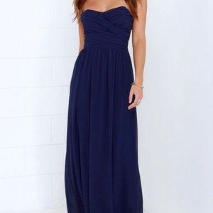 Lulus Royal Engagement Strapless Maxi Dress
